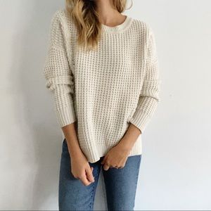 Cream Chunky Knit Madewell Sweater